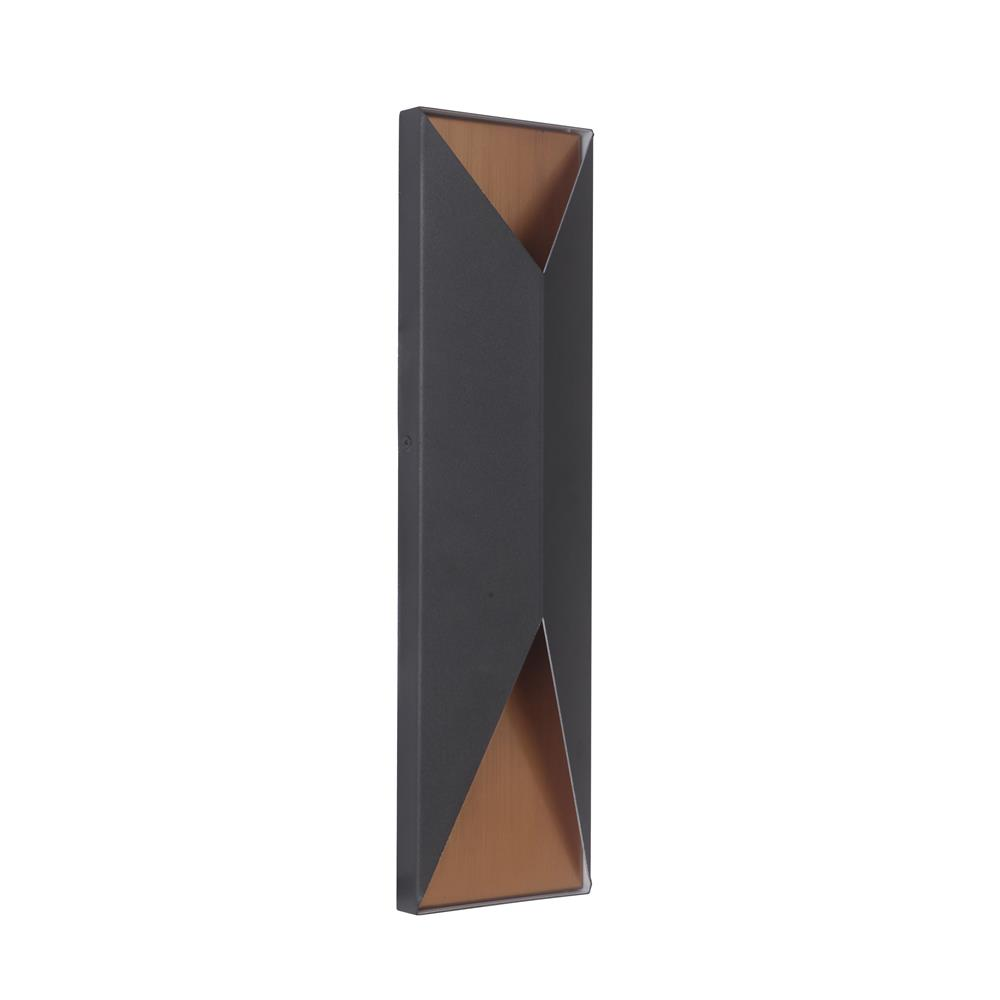 Craftmade Z3422-TBSB-LED Peak Large LED Pocket Sconce in Textured Matte Black/Satin Brass