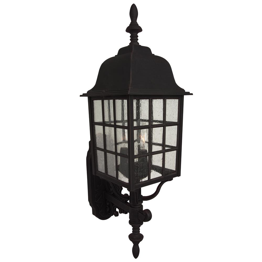 Craftmade Z574-TB Grid Cage Cast Aluminum Large Wall Mount in Textured Matte Black