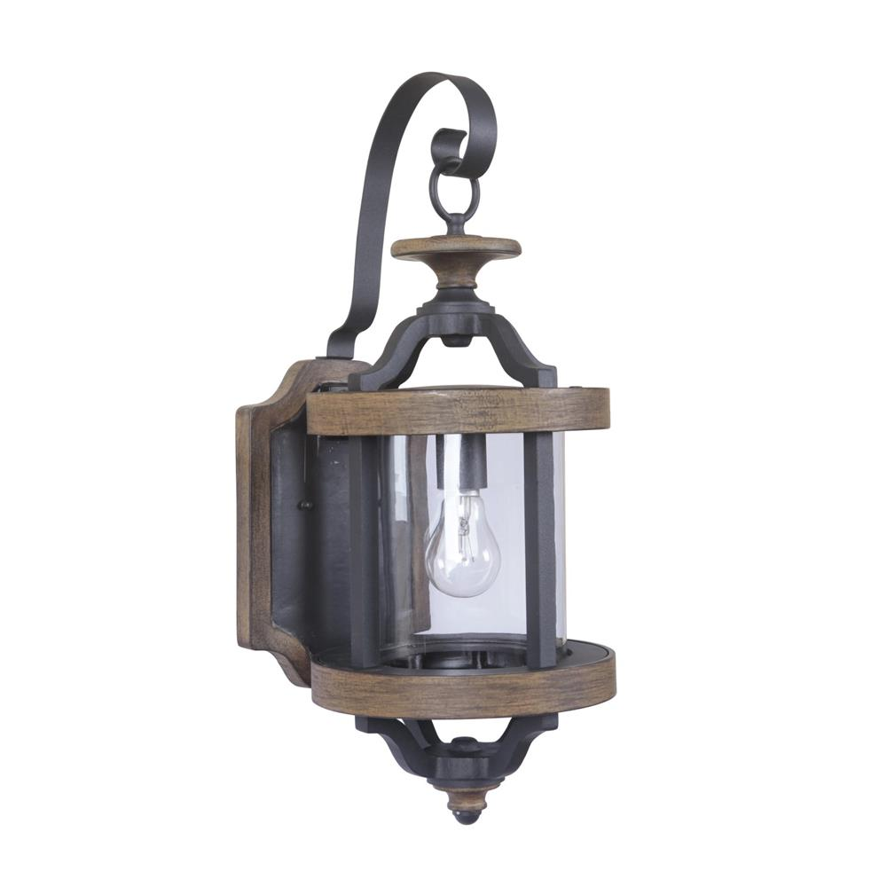 Craftmade Z7914-TBWB Ashwood 1 Light Medium Wall Mount in Textured Black/Whiskey Barrel