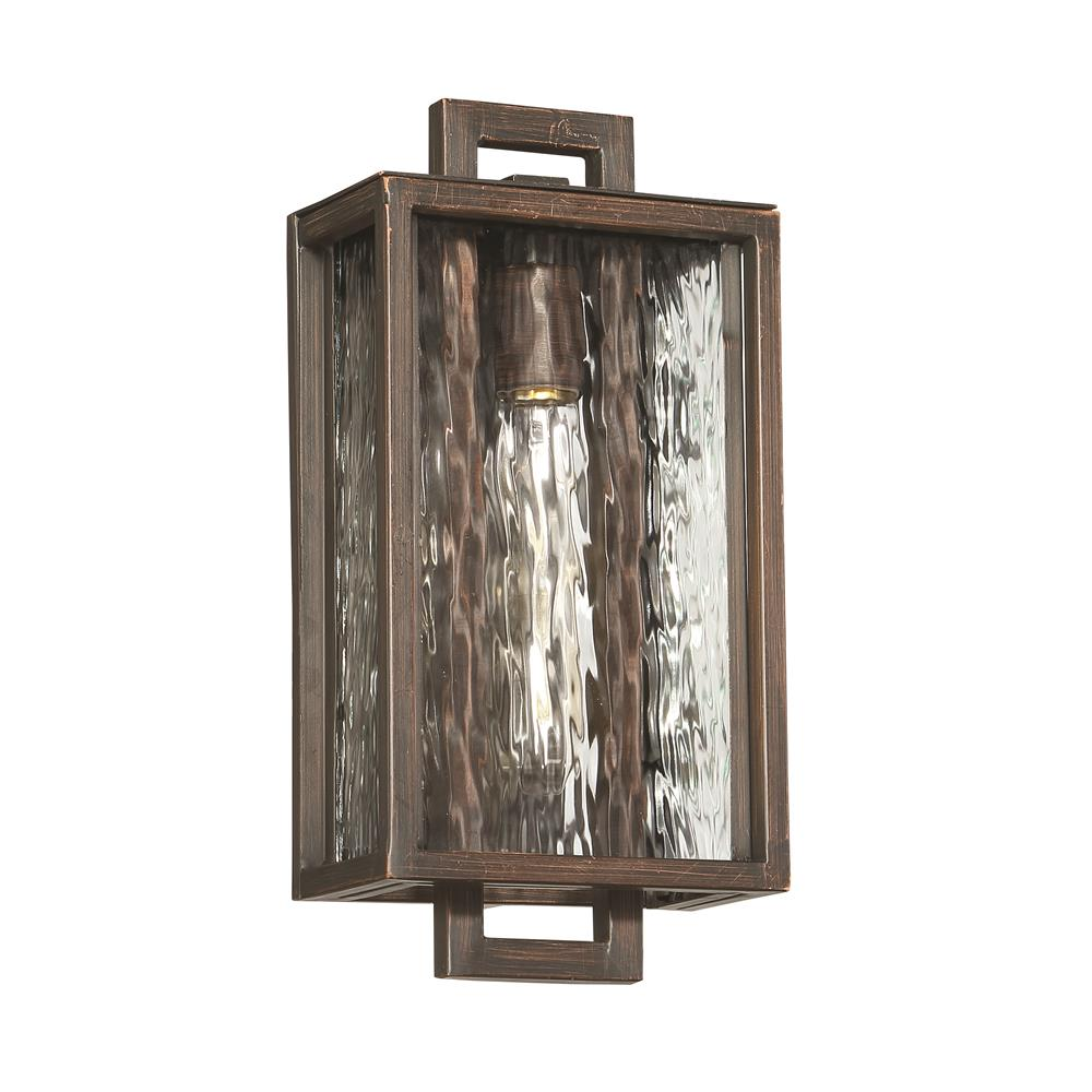 Craftmade Z9802-ABZ Cubic Small LED Pocket Sconce in Aged Bronze Brushed