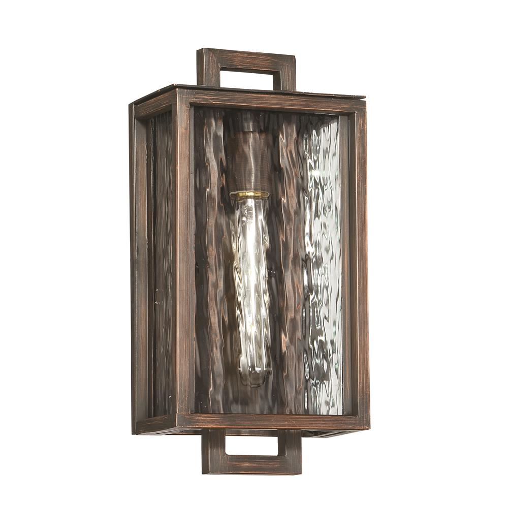 Craftmade Z9804-ABZ Cubic Small LED Wall Mount in Aged Bronze Brushed