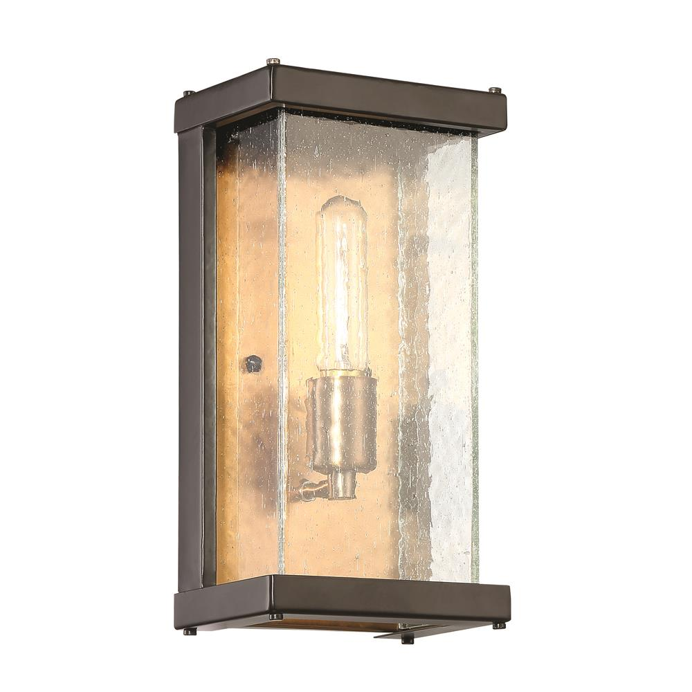 Craftmade Z9902-MNPAB Farnsworth 1 Light Small Wall Mount in Midnight/Patina Aged Brass