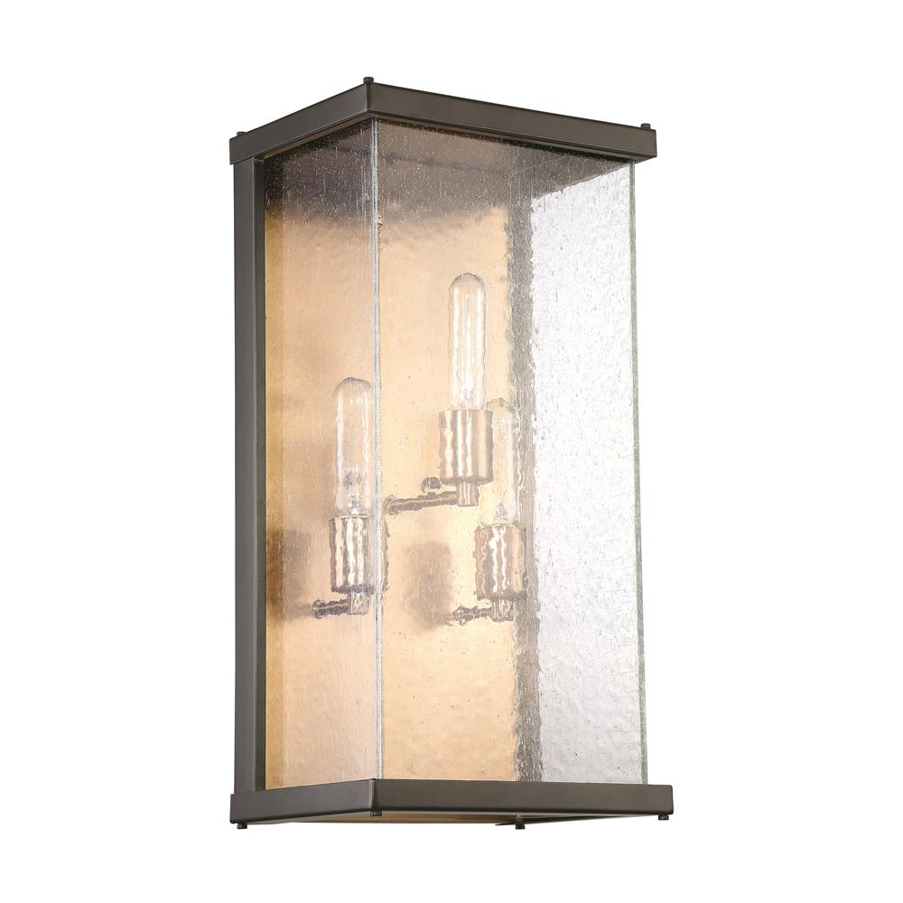 Craftmade Z9922-MNPAB Farnsworth 3 Light Large Wall Mount in Midnight/Patina Aged Brass