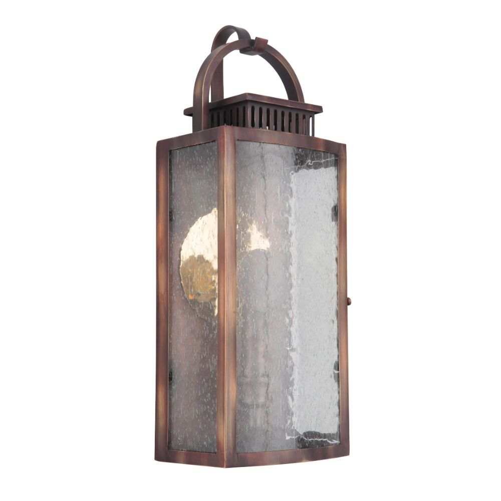 Craftmade ZA1502-WC-LED Hearth Small Pocket LED Sconce in Weathered Copper