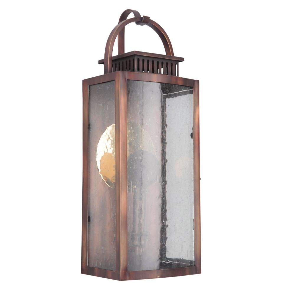 Craftmade ZA1512-WC-LED Hearth Medium Pocket LED Sconce in Weathered Copper
