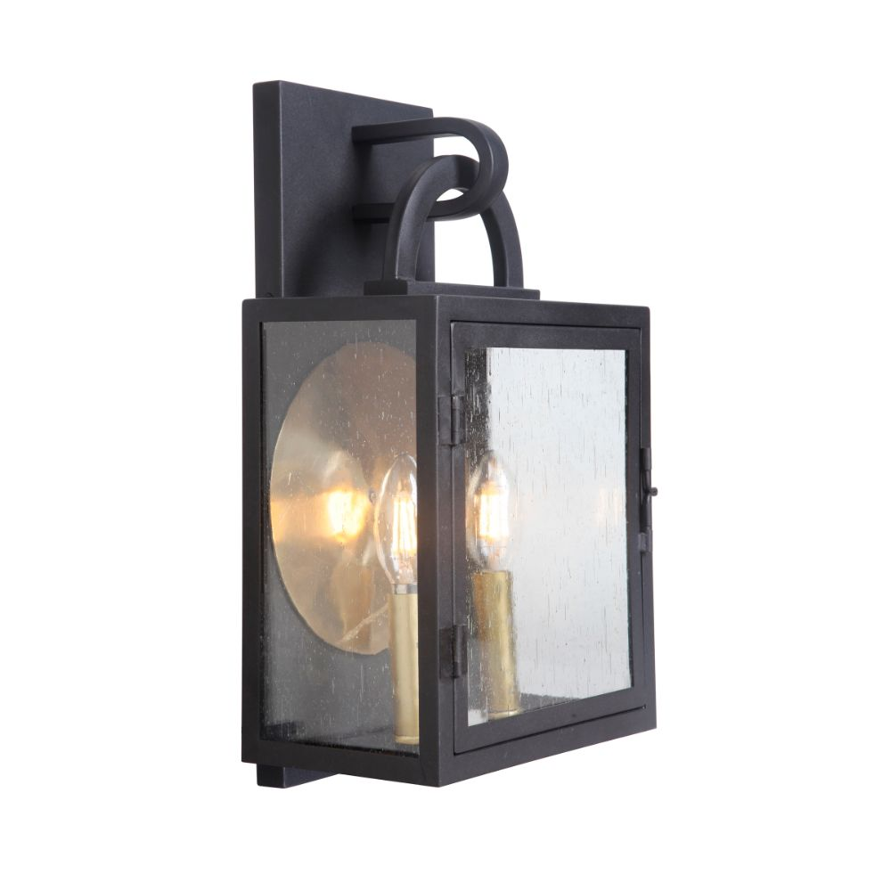 Craftmade ZA1612-TB Wolford Medium Pocket Sconce in Textured Matte Black