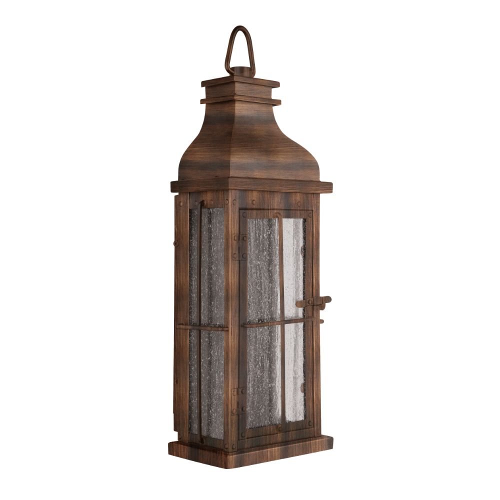 Craftmade ZA1802-WC-LED Vincent LED Pocket Sconce in Weathered Copper