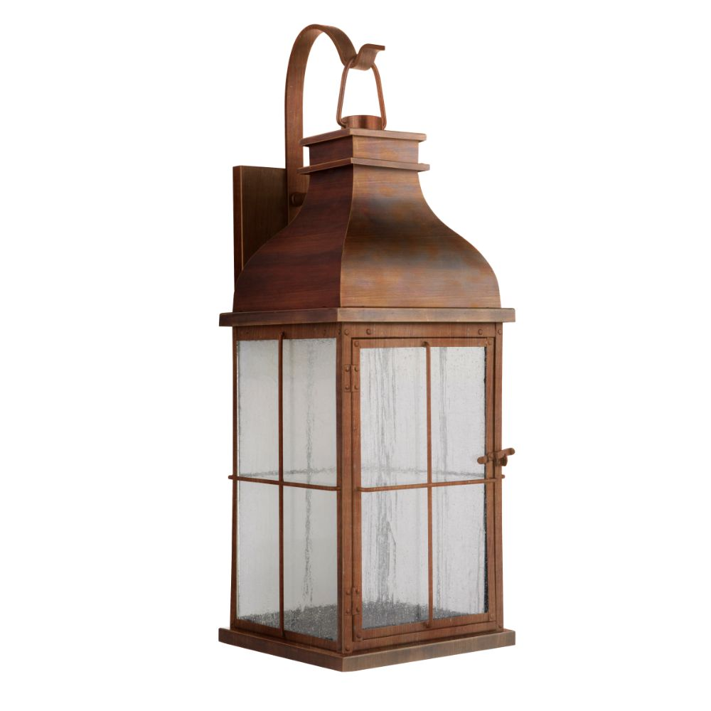 Craftmade ZA1824-WC-LED Vincent Large LED Wall Mount in Weathered Copper