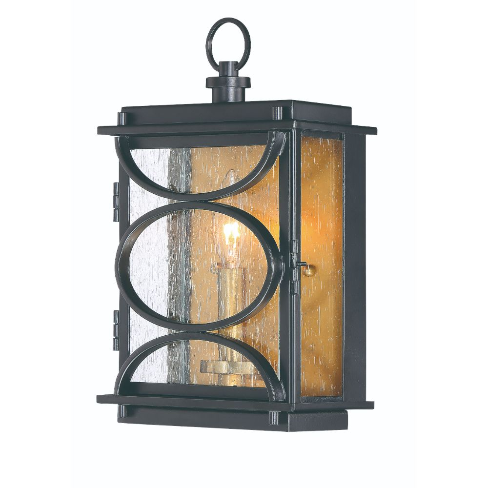 Craftmade ZA1902-MNPAB Hamilton 1 Light Wall Mount in Midnight/Patina Aged Brass