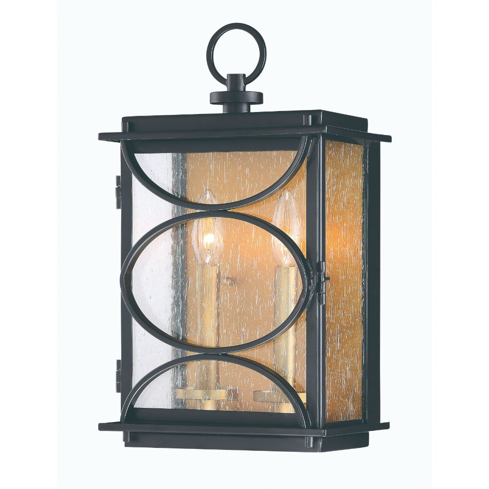 Craftmade ZA1912-MNPAB Hamilton 2 Light Wall Mount in Midnight/Patina Aged Brass