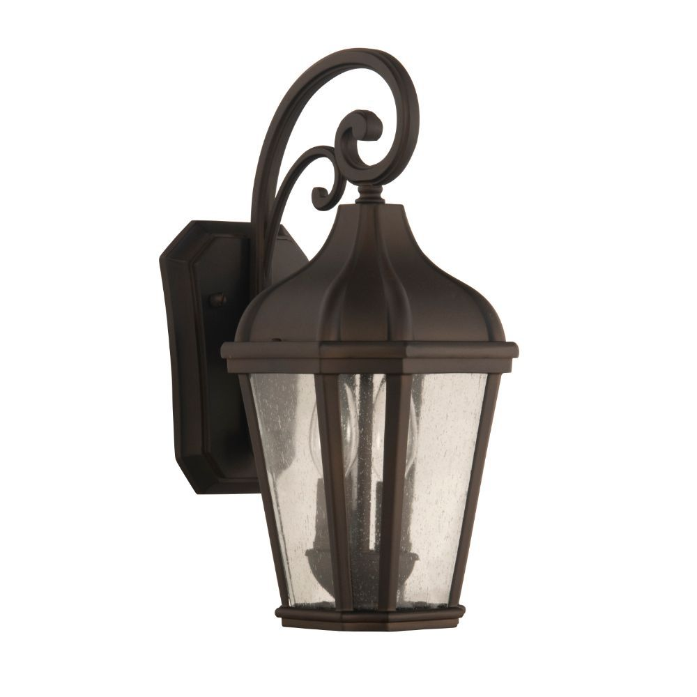 Craftmade ZA3014-DC Briarwick Medium 2 Light Outdoor Lantern in Dark Coffee