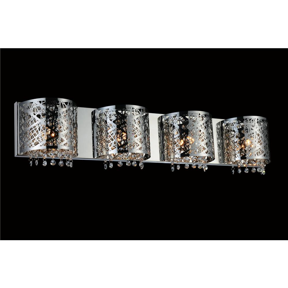 CWI Lighting 5008W34ST-R-4 Eternity 4 Light Vanity Light with Chrome finish