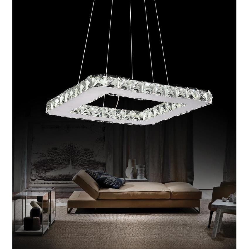 CWI Lighting 5080P15ST-S Ring LED Chandelier with Chrome finish
