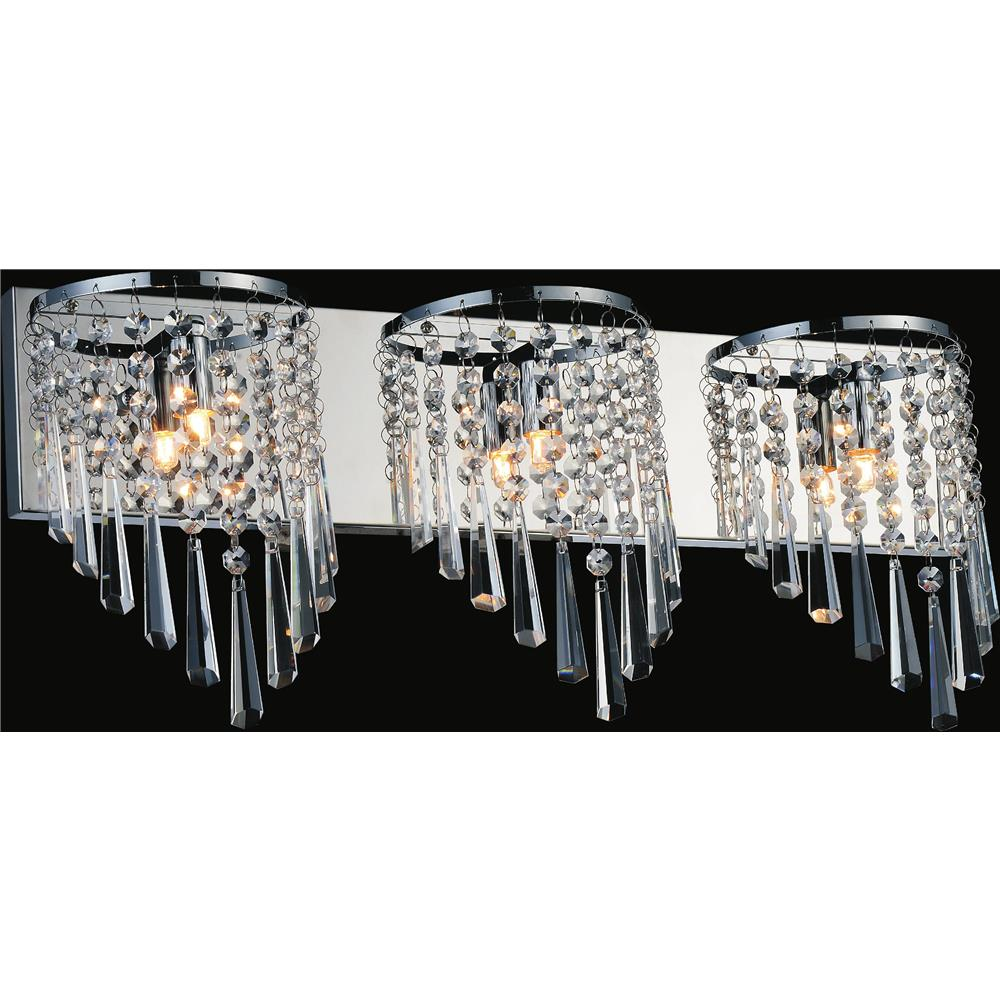 CWI Lighting 5564W23C-3 Della 3 Light Vanity Light with Chrome finish