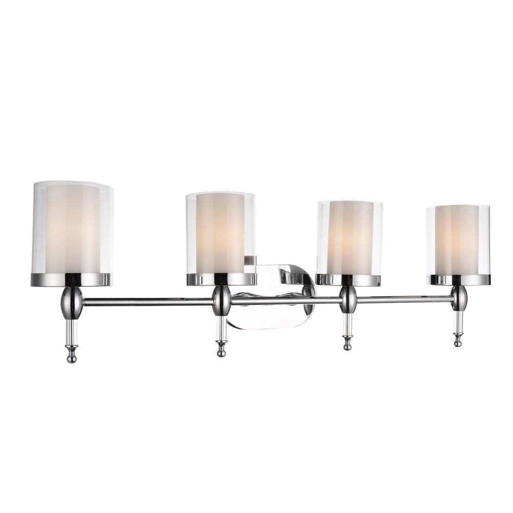CWI Lighting 9851W34-4-601 Maybelle 4 Light Vanity Light with Chrome finish
