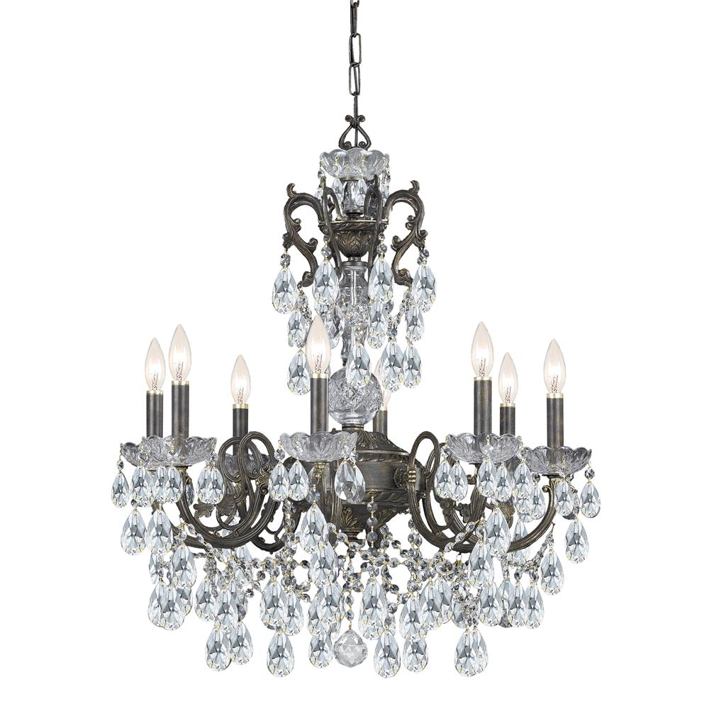 Crystorama Lighting 5198-EB-CL-MWP Legacy 8 Light Clear Crystal Bronze Chandelier