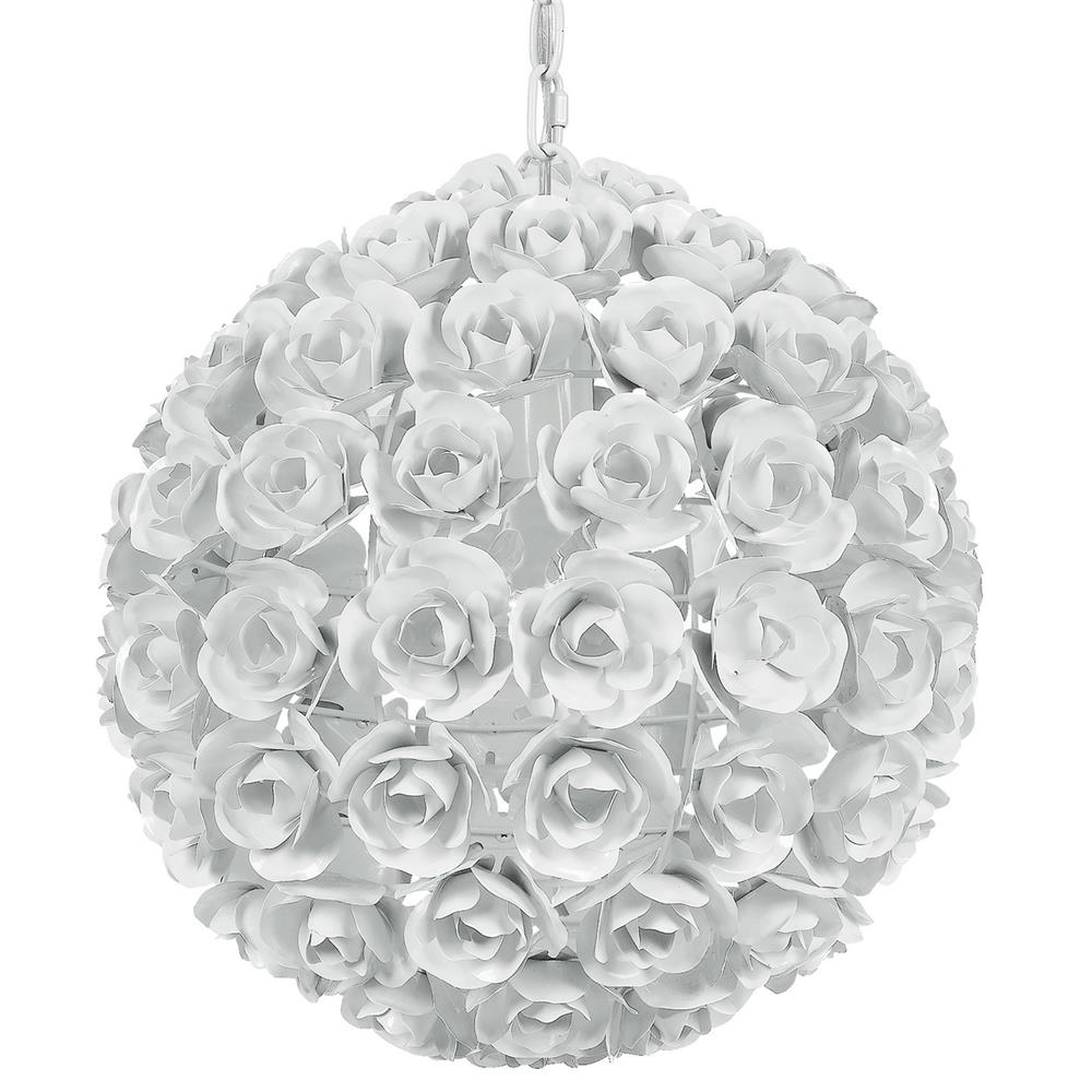 Crystorama Lighting 537-WW Cypress 1 Light White Sphere Mini Chandelier