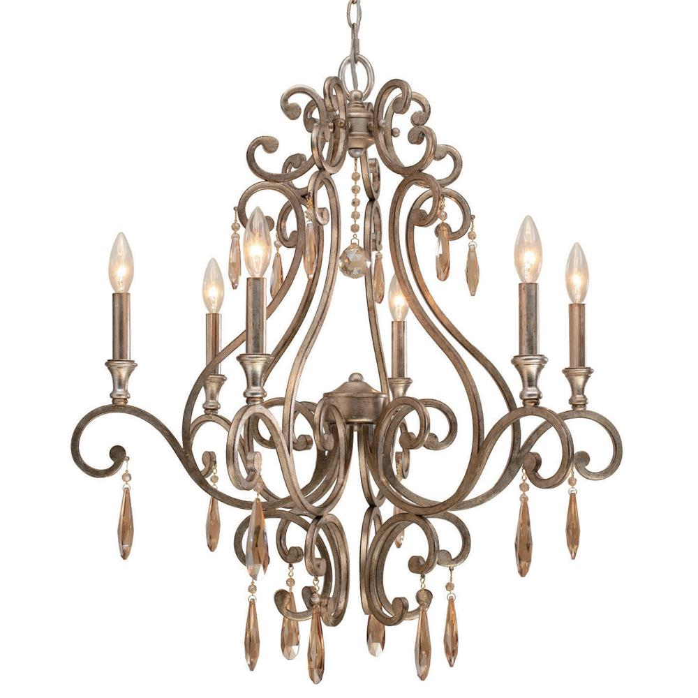 Crystorama Lighting 7526-DT Shelby 6 Light Distressed Twilight Chandelier