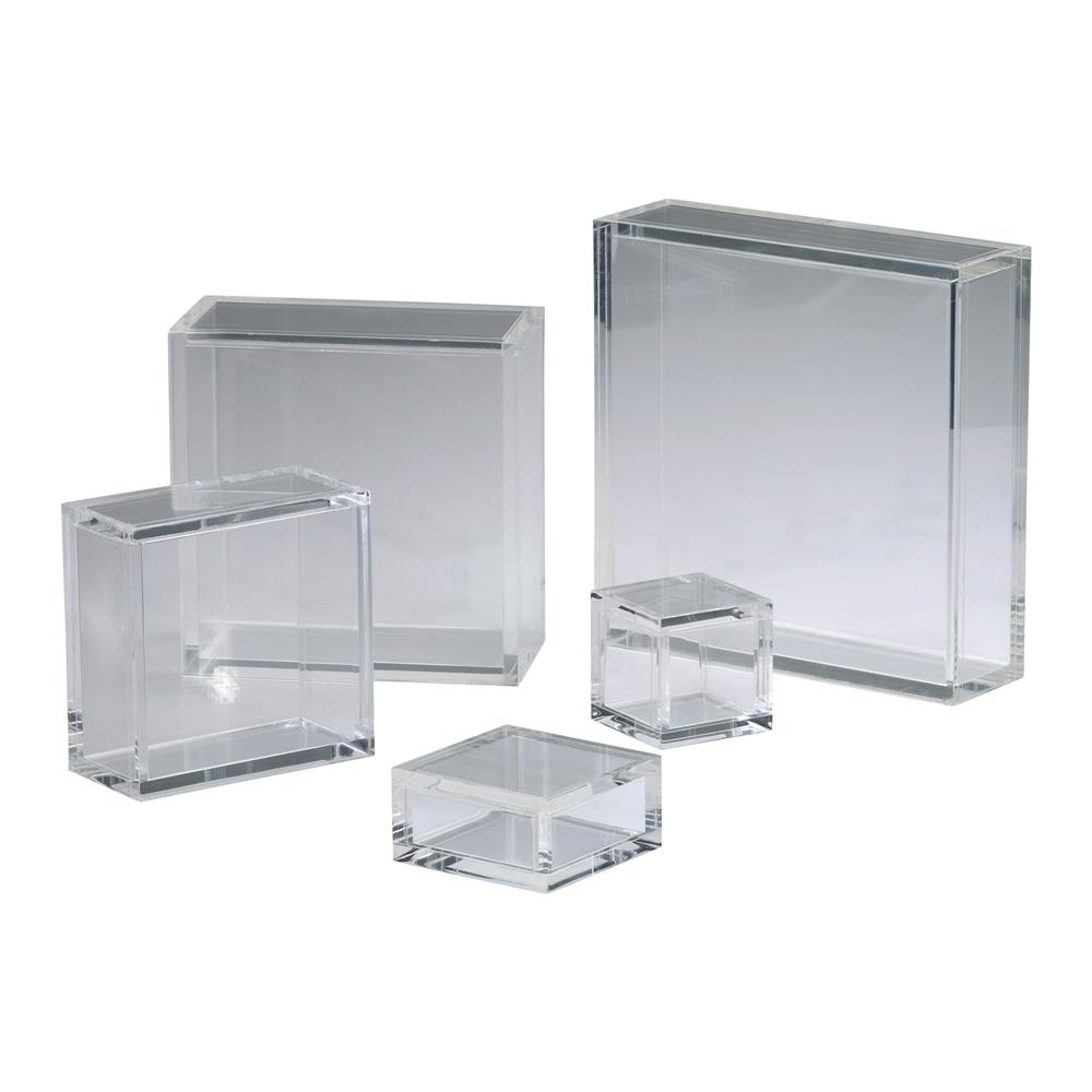 Cyan Design 01835 10x10 Square Acrylic Pedestal in Clear