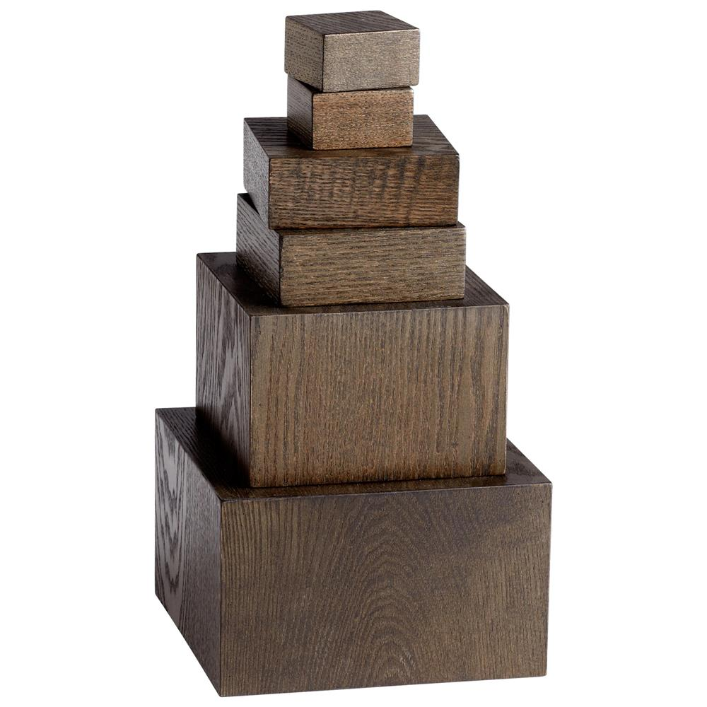 Cyan Design 05510 Art Pedestals in Brown