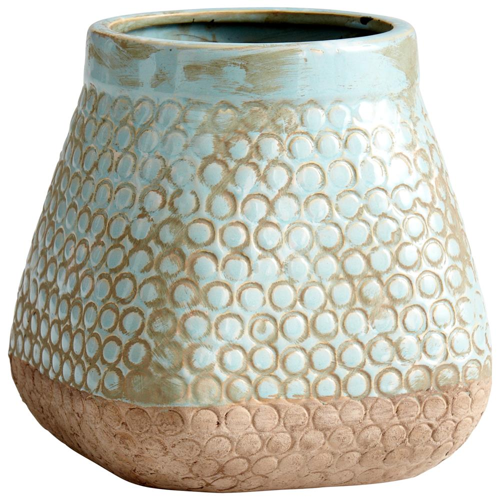 Cyan Design 05678 Small Pershing Planter in Sandstone and Blue
