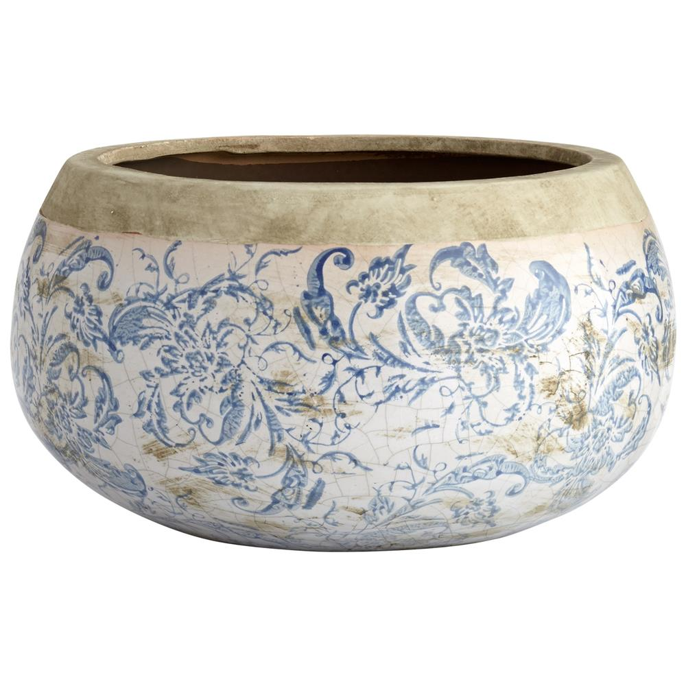 Cyan Design 07407 Large Isela Planter in Blue and White