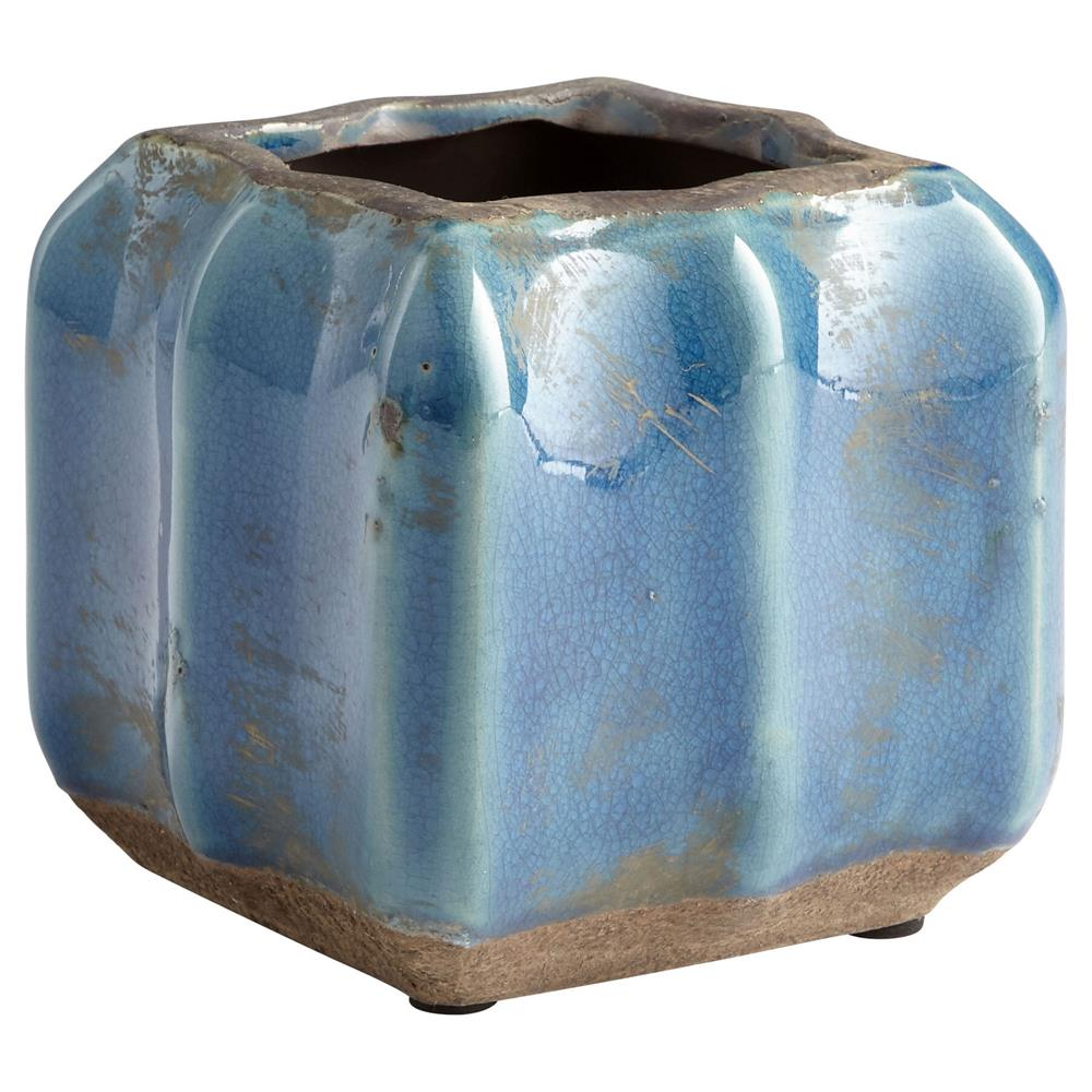 Cyan Design 08747 Small Redondo Planter in Blue Glaze