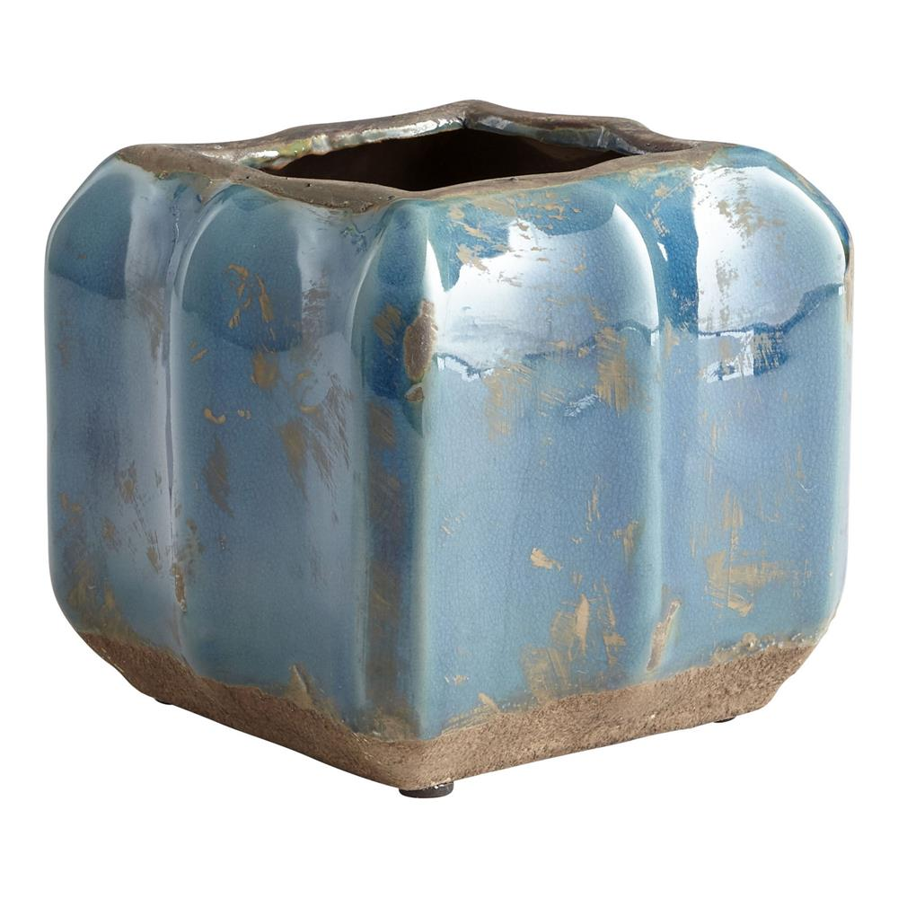 Cyan Design 08748 Large Redondo Planter in Blue Glaze