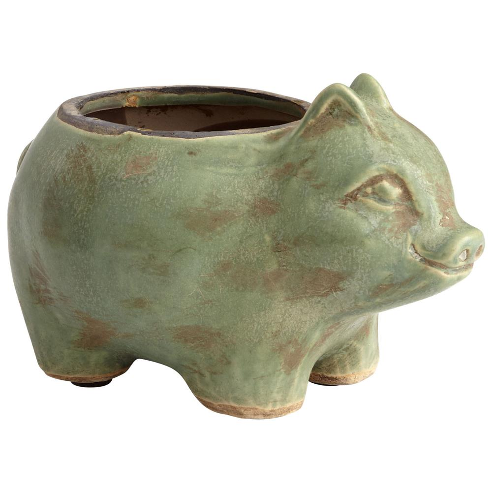 Cyan Design 08765 Mr. Oinkers Planter in Green Glaze