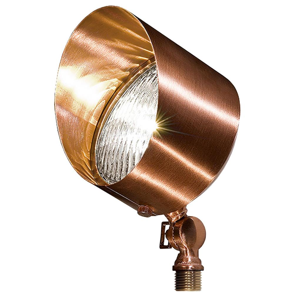 Dabmar Lighting LV30-CP Solid Brass Directional Flood Light with Hood in Copper
