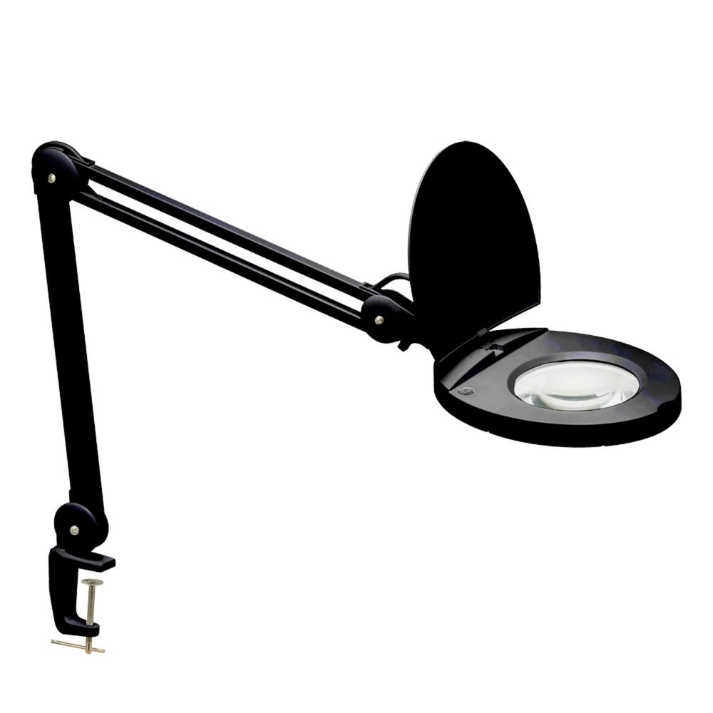 Dainolite DMLED10-A-5D-BK  8W LED Magnifier Lamp, Black Finish