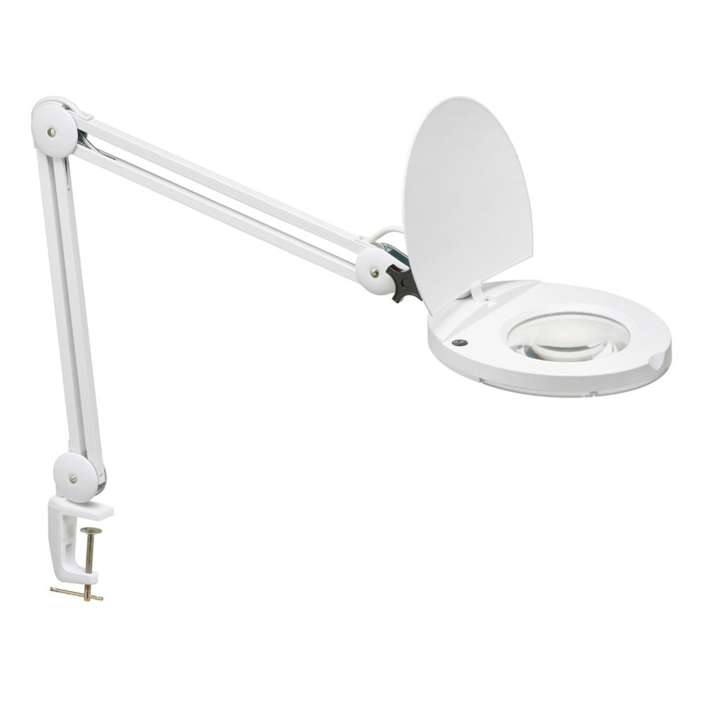 Dainolite DMLED10-A-5D-WH  8W LED Magnifier Lamp, White Finish