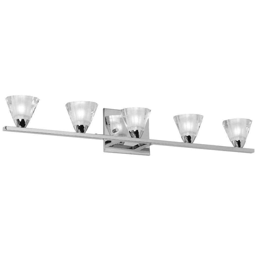 Dainolite V689-5W-PC Signature 5 Light Vanity in Polished Chrome