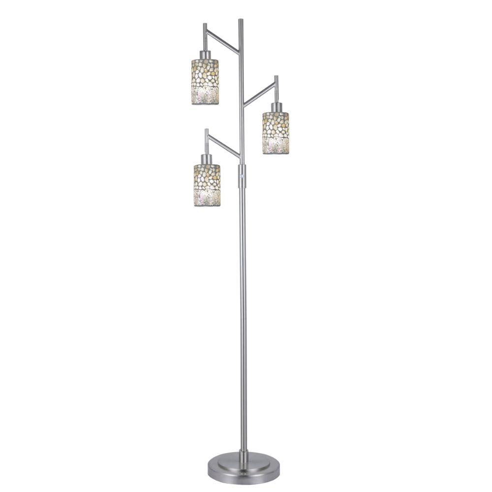 Dale Tiffany PF12359 Alps 3-Light Mosaic Floor Lamp