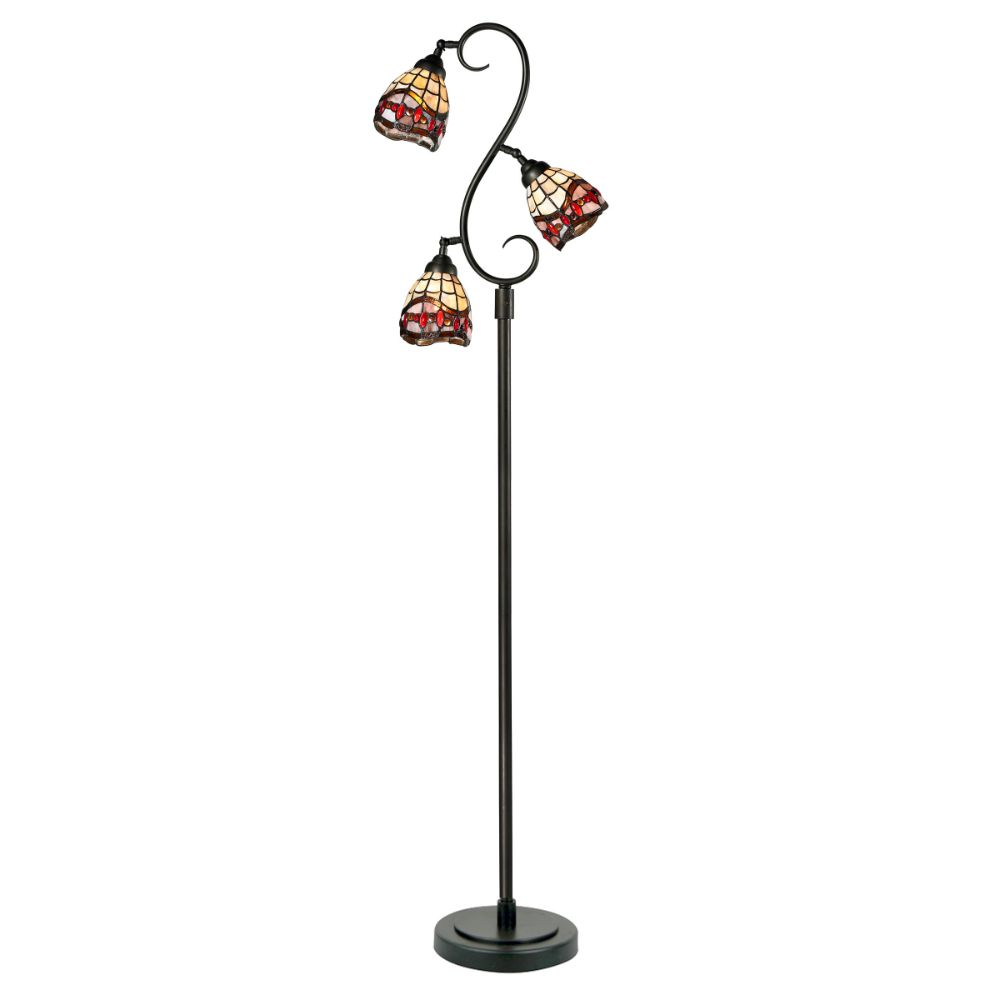 Dale Tiffany TF12408 Fall River 3-Light Floor Lamp