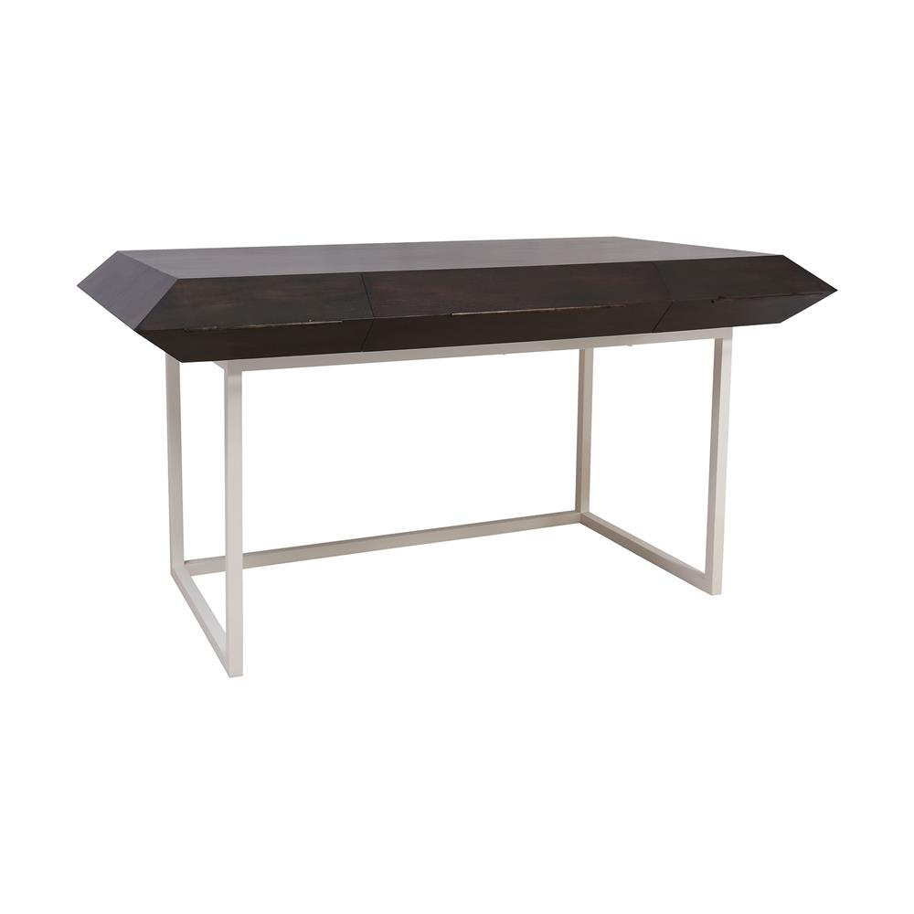 ELK Home 7011-1520 Teatro Desk in Gray Stain, White