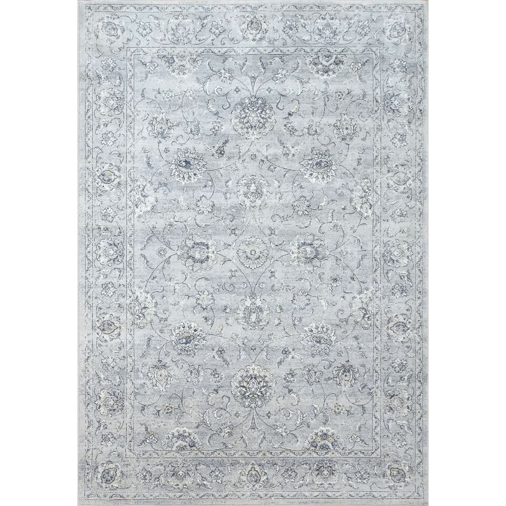 Dynamic Rugs  57126-9696 Ancient Garden 9 Ft. 2 In. X 12 Ft. 10 In. Rectangle Rug in Silver/Grey