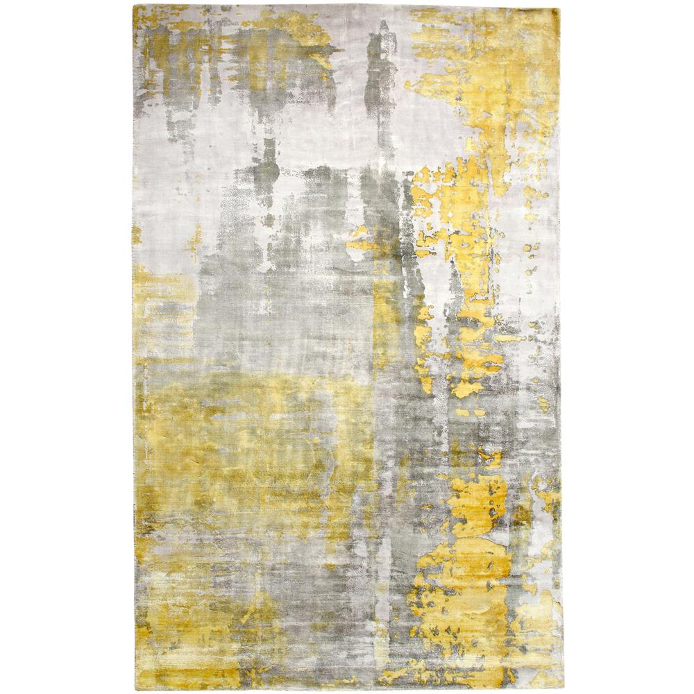Dynamic Rugs  1601-179 Artisan 5 Ft. X 8 Ft. Rectangle Rug in Silver/Gold