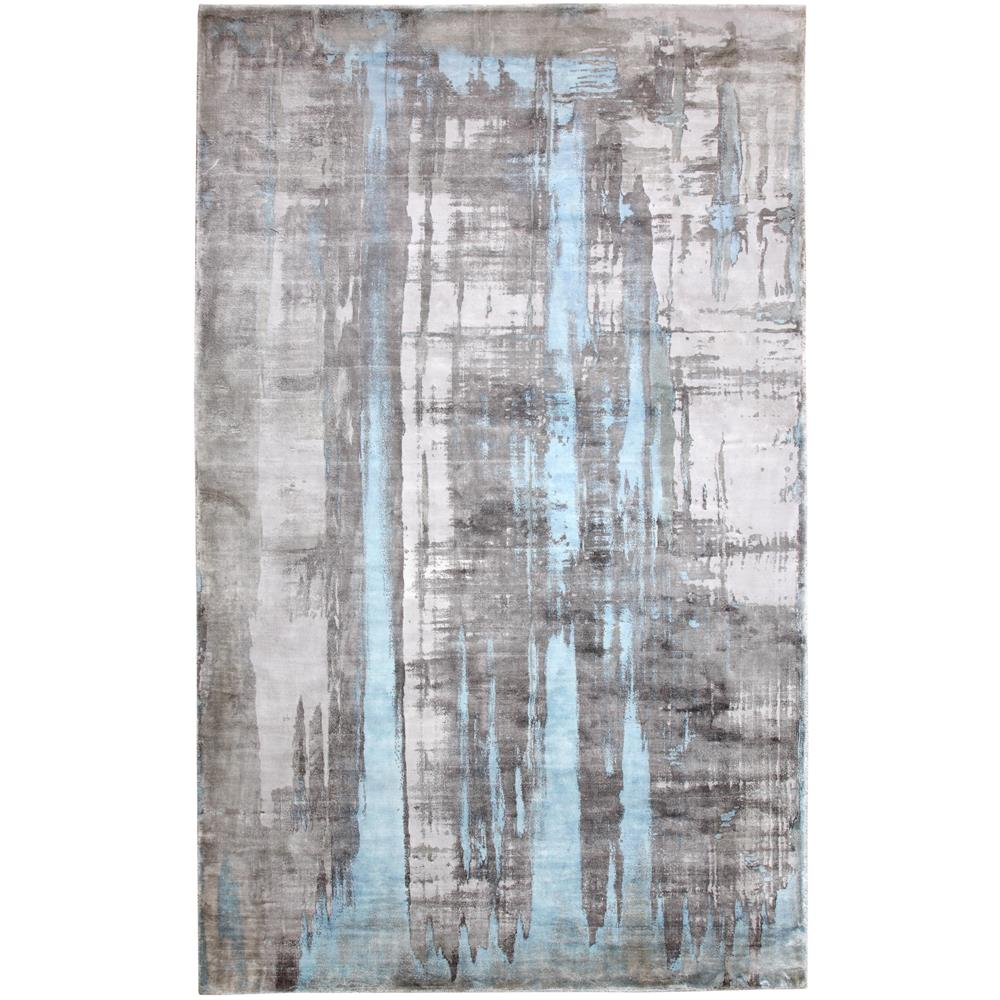 Dynamic Rugs  1602-190 Artisan 5 Ft. X 8 Ft. Rectangle Rug in Silver/Blue