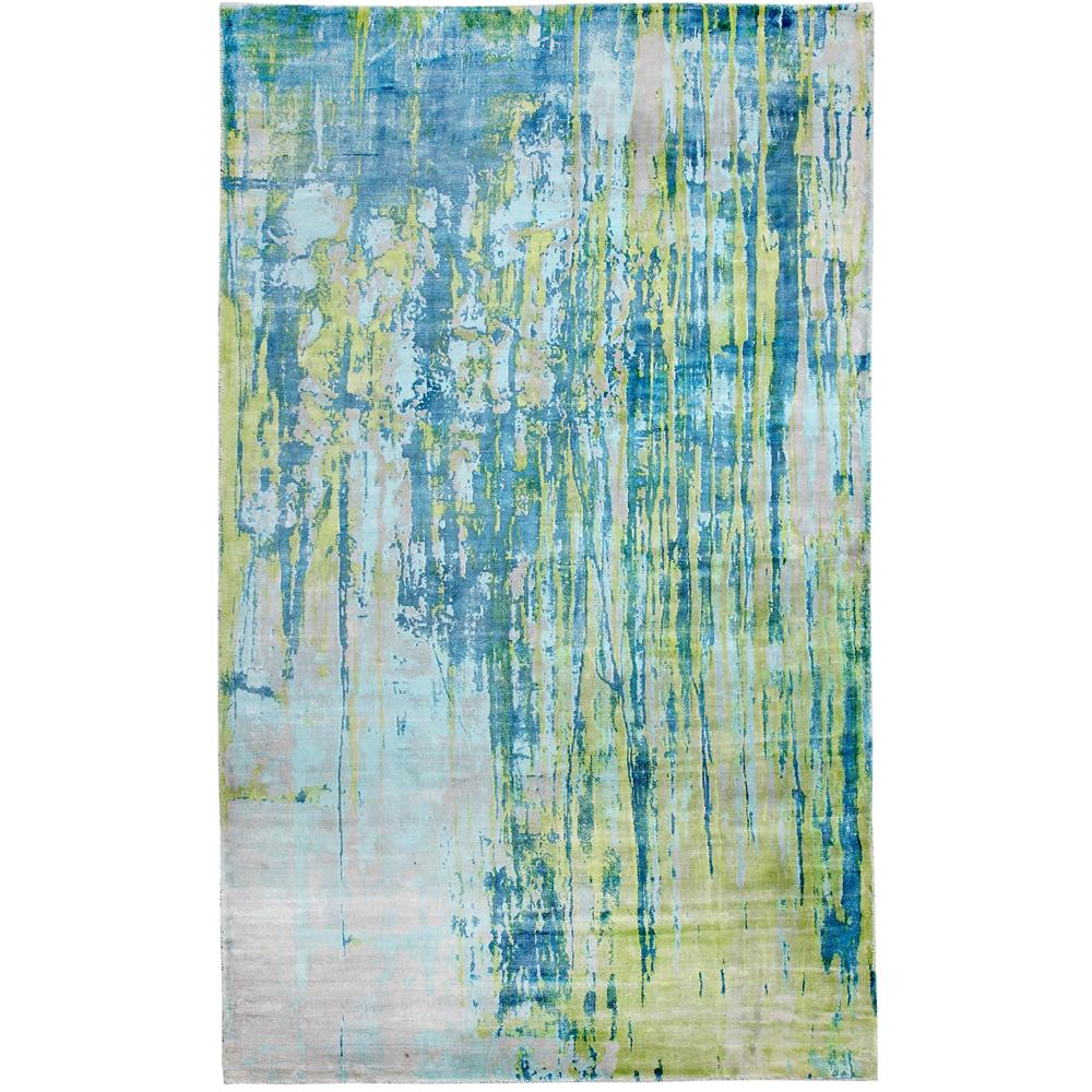 Dynamic Rugs  1604-155 Artisan 5 Ft. X 8 Ft. Rectangle Rug in Turquoise/Lime