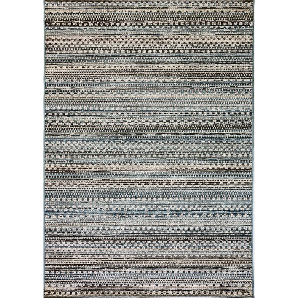 Dynamic Rugs 8570 5032 Brighton 2 Ft. X 3 Ft. 7 In. Rectangle Rug in Beige/Blue