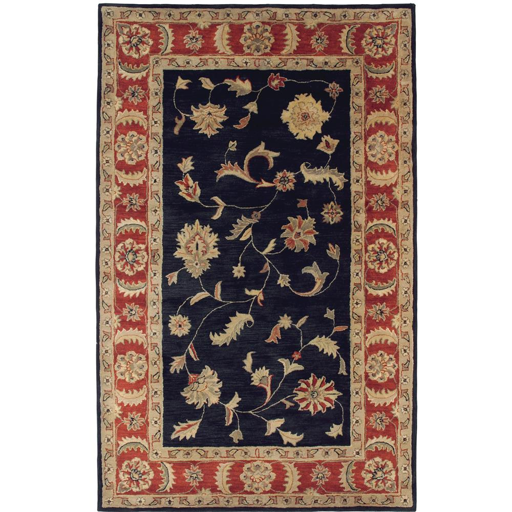 Dynamic Rugs 1401-090 Charisma 9 Ft. 6 In. X 13 Ft. 6 In. Rectangle Rug in Blk/Rd