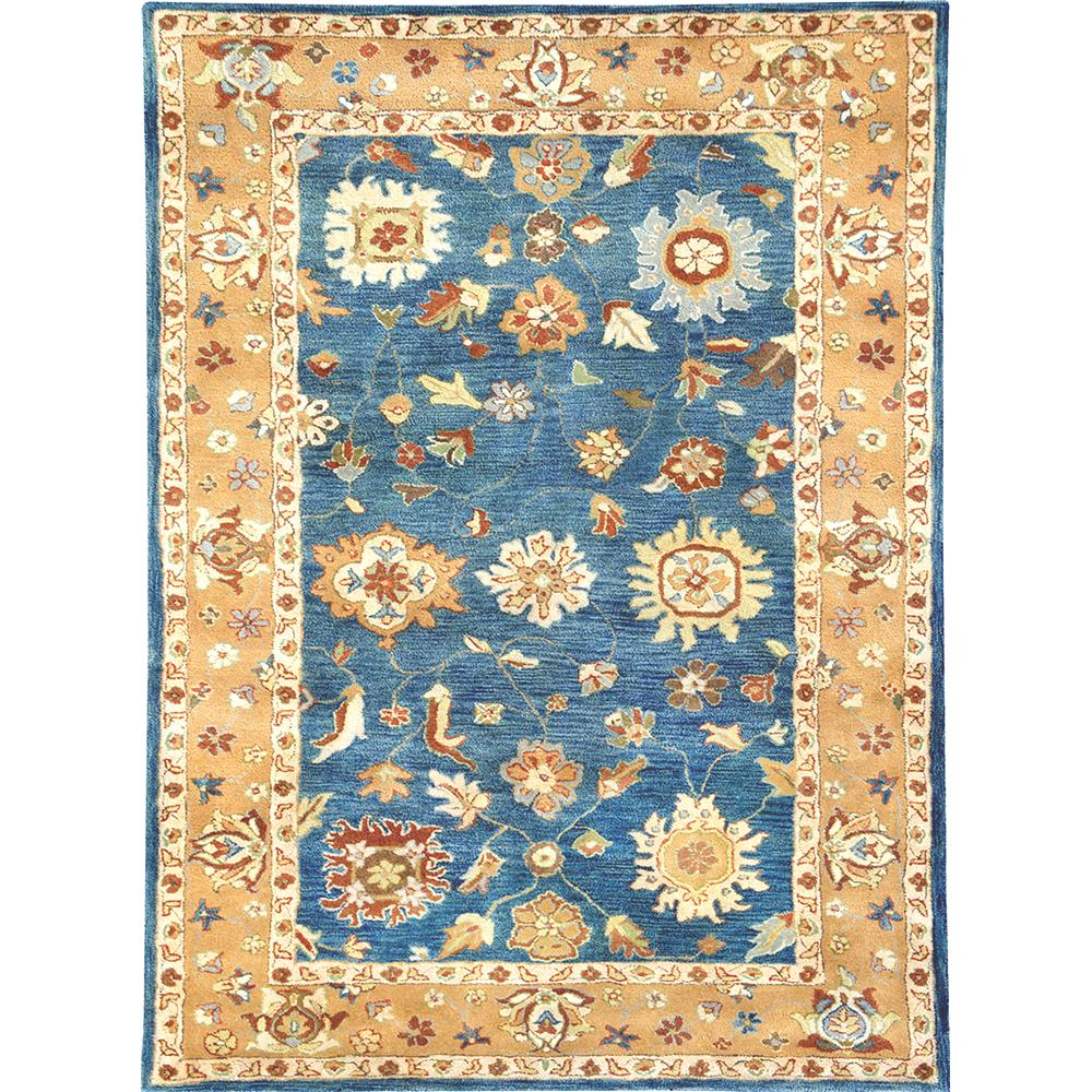 Dynamic Rugs 1409-550 Charisma 9 Ft. 6 In. X 13 Ft. 6 In. Rectangle Rug in Medium Blue