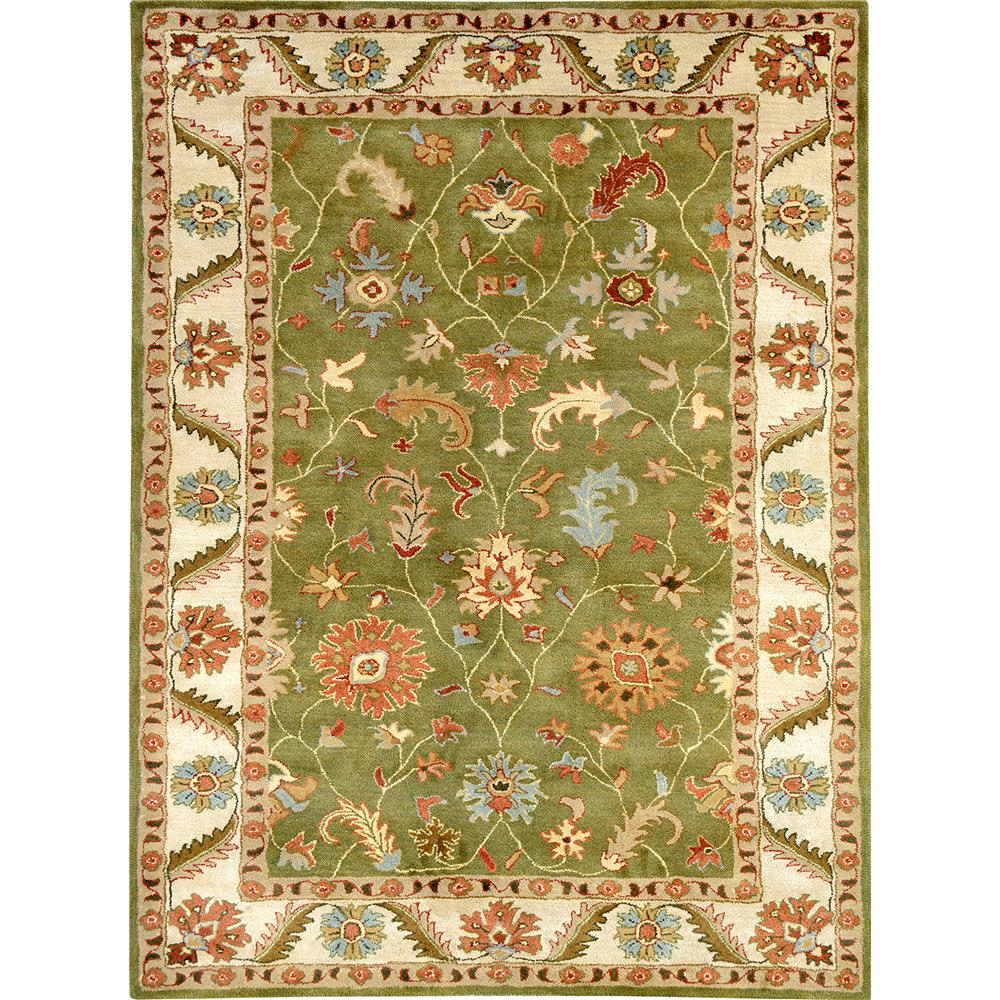 Dynamic Rugs 1411-400 Charisma 9 Ft. 6 In. X 13 Ft. 6 In. Rectangle Rug in Dark Olive