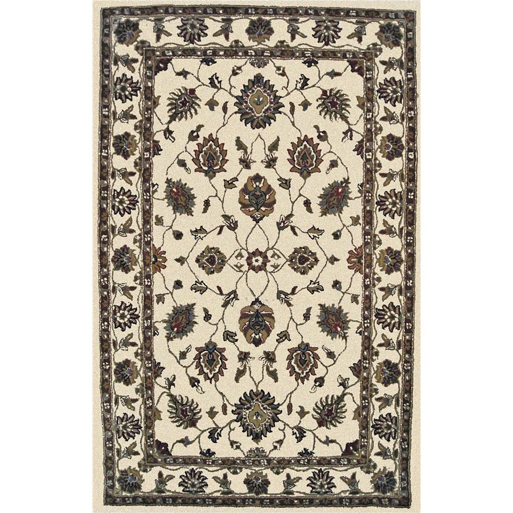 Dynamic Rugs 1412-100 Charisma 2 Ft. X 4 Ft. Rectangle Rug in Ivory