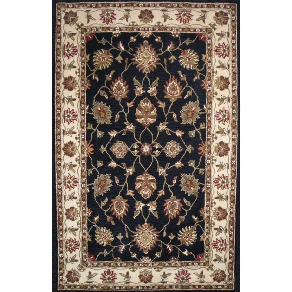 Dynamic Rugs 1412-190 Charisma 2 Ft. X 4 Ft. Rectangle Rug in Black/Ivory