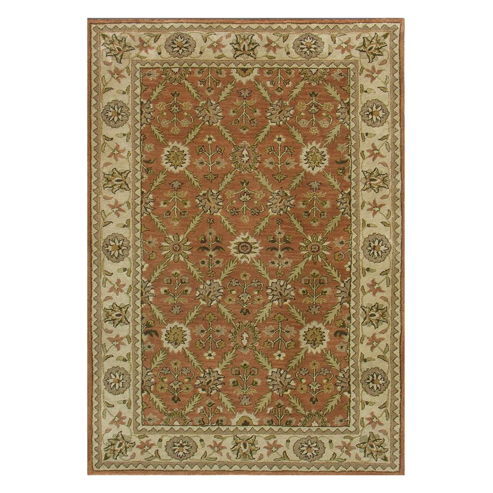 Dynamic Rugs 1413-200 Charisma 2 Ft. X 4 Ft. Rectangle Rug in Rust/Ivory