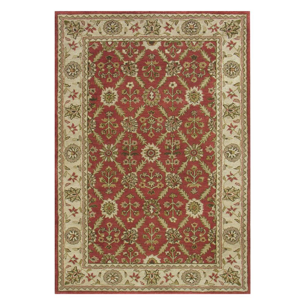 Dynamic Rugs 1413-300 Charisma 2 Ft. X 4 Ft. Rectangle Rug in Red/Ivory