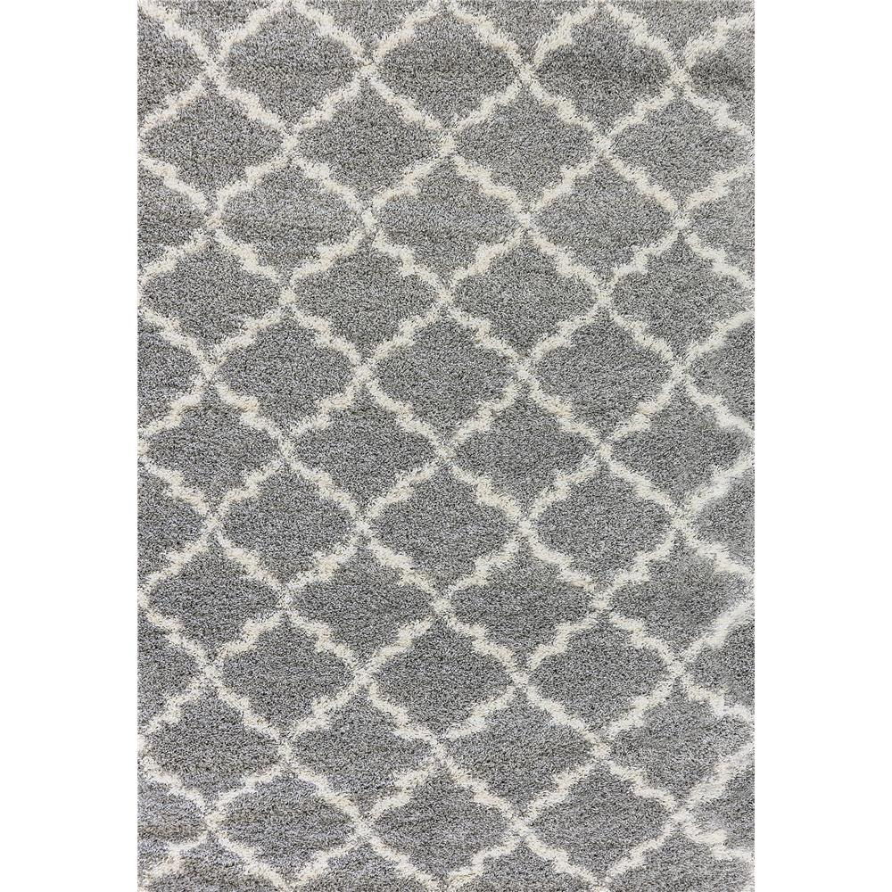 Dynamic Rugs 8520 901 Crystal 2 Ft. 7 In. X 5 Ft. Rectangle Rug in Grey/Cream