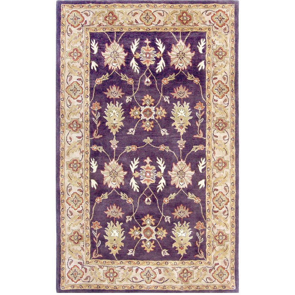 Dynamic Rugs 1403-800 Charisma 2 Ft. X 4 Ft. Rectangle Rug in Eggplant